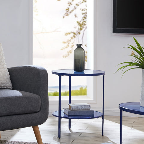 Lahoa Blue Glass Side Table