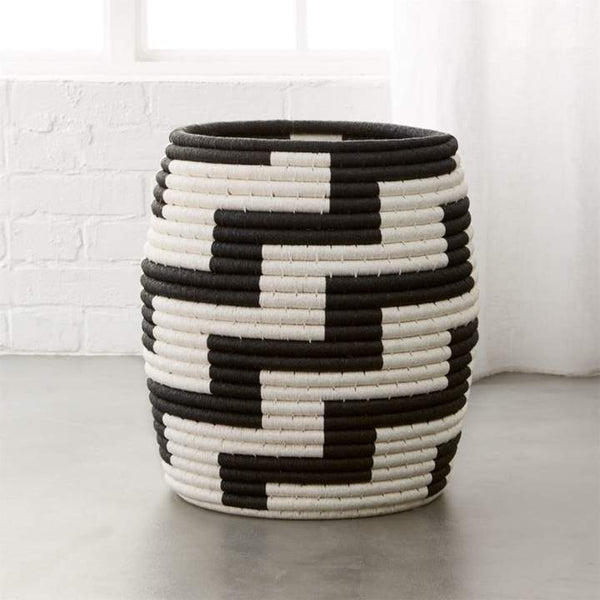 Tatum Black And White Basket