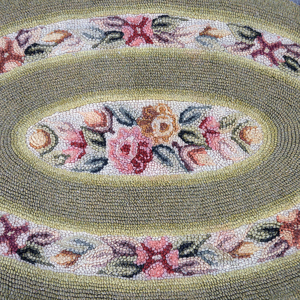 antique hand-hooked rug