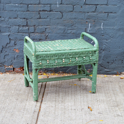 antique wicker bench