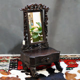 hand-carved dressing table