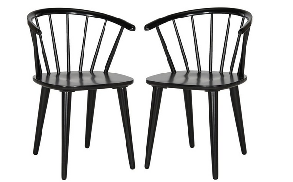 Set of 2 Kathryn Side Chairs - Black