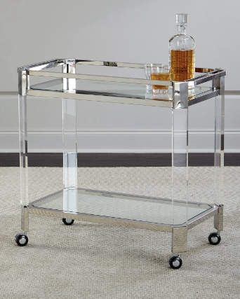 Safavieh Maxima Stainless & Acrylic Bar Cart