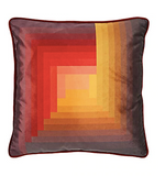 Ana Romero Collection Pyramid-Pattern Velvet Pillow