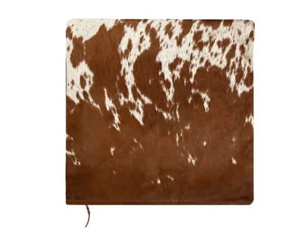 MAHI Leather - Brown & White Natural Cowhide Cushion Cover
