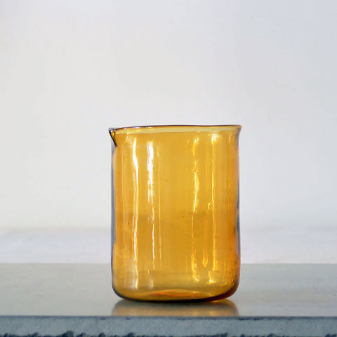 amber glass beaker