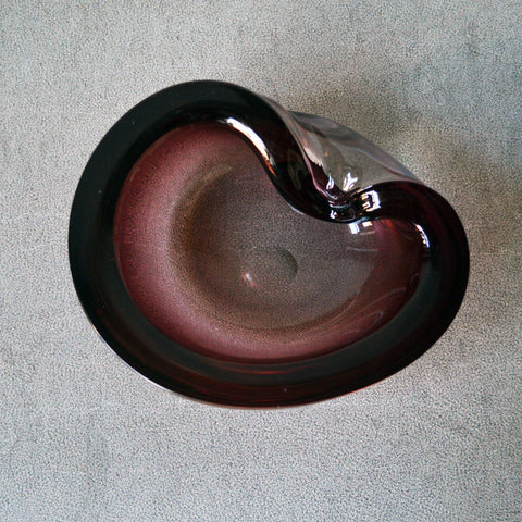 amethyst folded murano bowl - You & Yours Fine Vintage