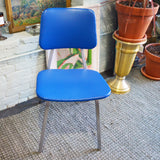 blue vinyl industrial chair - You & Yours Fine Vintage