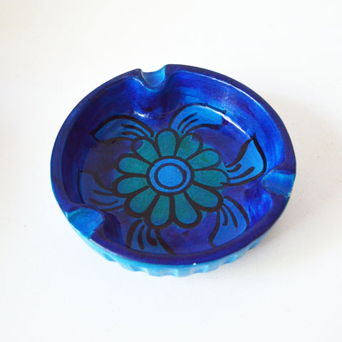 blue ceramic ashtray - You & Yours Fine Vintage