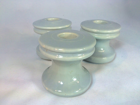blue porcelain insulators