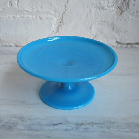 Bonnie Blue milk glass dessert stand - You & Yours Fine Vintage