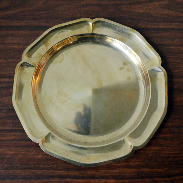 brass flower motif tray - You & Yours Fine Vintage