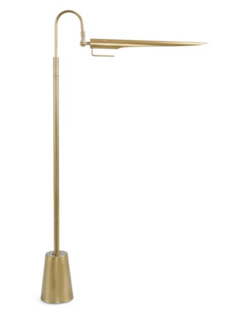 Regina Andrew Design Raven Natural Brass Floor Lamp