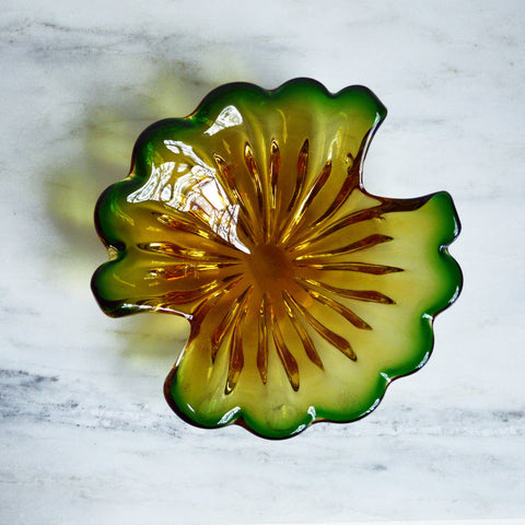 1960s blown glass biomorphic murano bowl - You & Yours Fine Vintage
