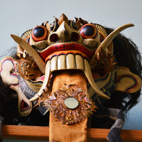 carved balinese rangda mask - You & Yours Fine Vintage