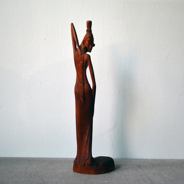 hand-carved sculpture of woman - You & Yours Fine Vintage