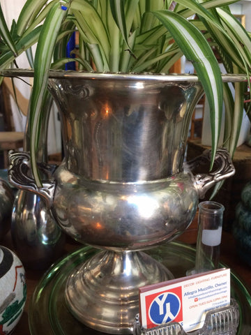 Silver plated loving cup w/draecena