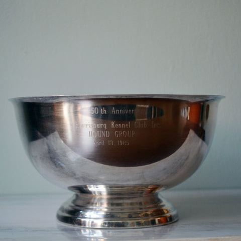 1985 Kennel Club trophy bowl - You & Yours Fine Vintage