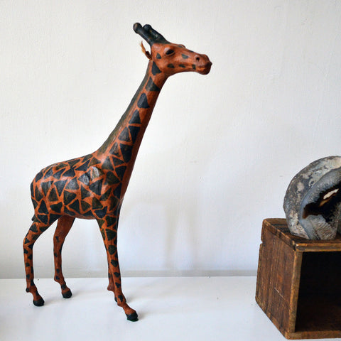 leather handmade giraffe - You & Yours Fine Vintage