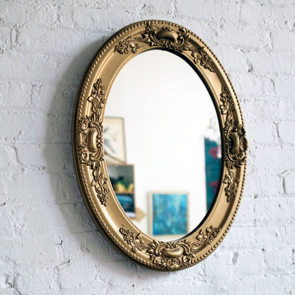 antique oval gilt-wood mirror - You & Yours Fine Vintage
