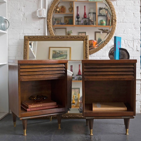 pair of mid-century modern Bassett nightstands - You & Yours Fine Vintage