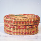 oval multicolored woven basket - You & Yours Fine Vintage