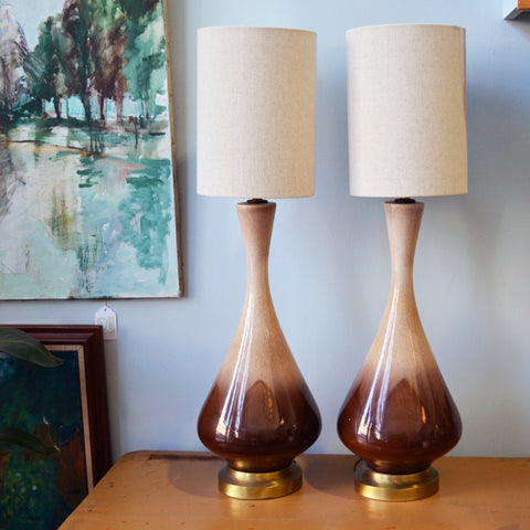 pair of mid-century lamps - You & Yours Fine Vintage
