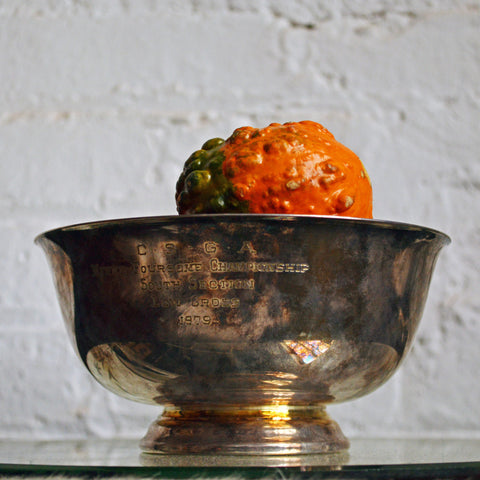 trophy bowl w/orange enamel interior - You & Yours Fine Vintage