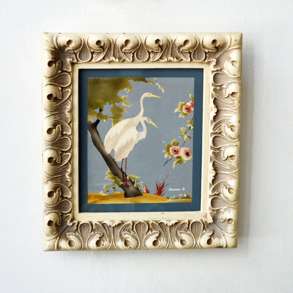 mid-century snowy egrets print - You & Yours Fine Vintage