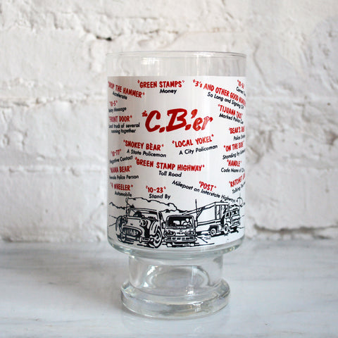 cb trucker 1970s cocktail mixing glass - You & Yours Fine Vintage