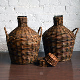 demijohn w/ woven wicker cover - You & Yours Fine Vintage