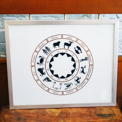 glass zodiac tray - You & Yours Fine Vintage