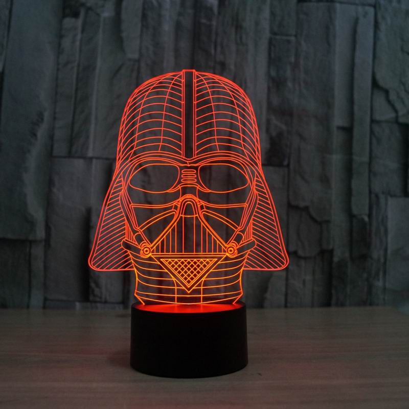 3d Star Wars Led Lamp Blue Angl