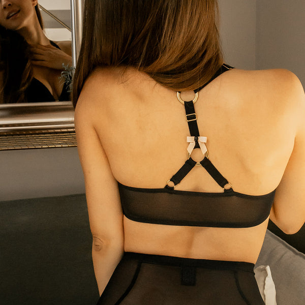 A Jewel a day... Triangle Bralette black