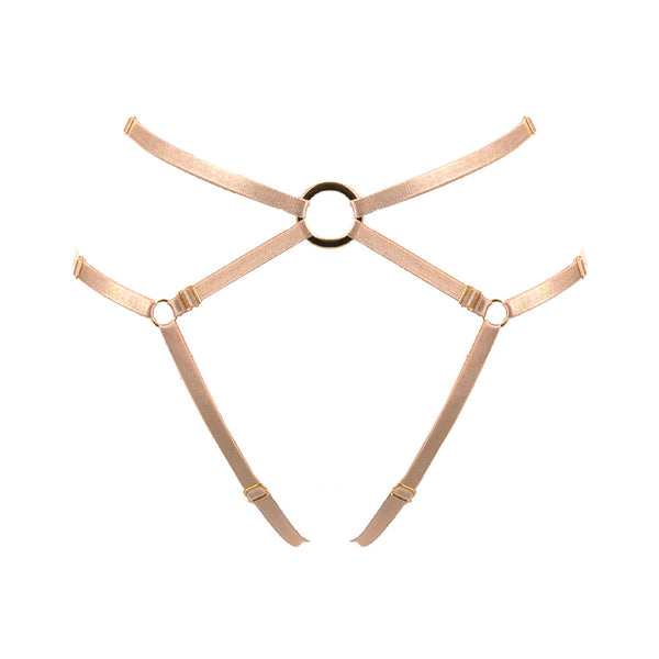 Bon Bondage Harness Thong Slim powder