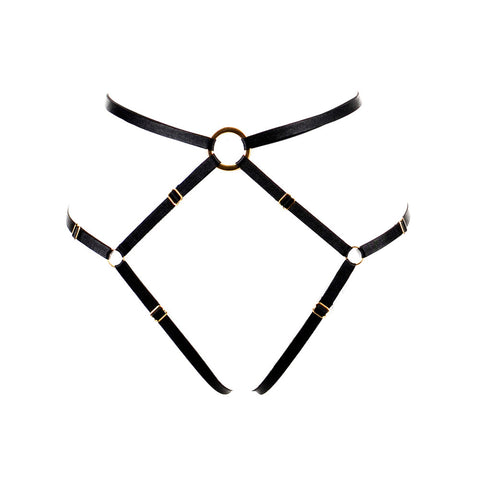 Bon Bondage Harness Thong Slim black