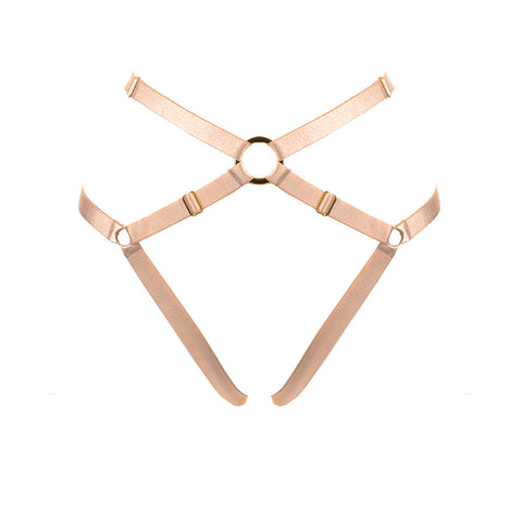Bon Bondage Harness Thong powder
