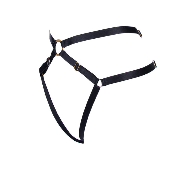 Bon Bondage Harness Thong black