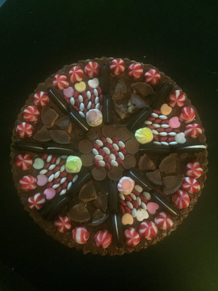 Chocolate Cookie Candy Pizza