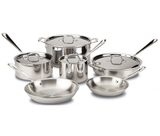 All-Clad d3 Stainless Steel Cookware Set 10pc