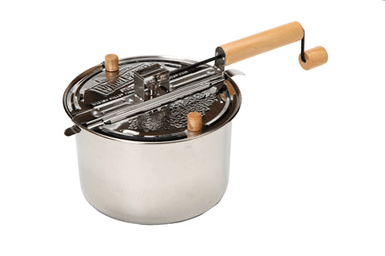 6QT Whirley Pop - Stainless Steel Induction Ready
