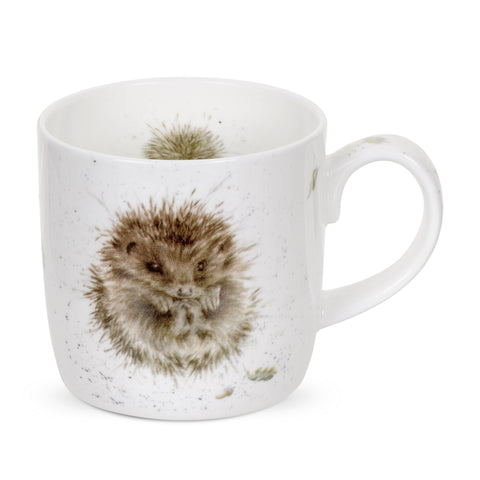 Wrendale Fine Bone China Mug - Awakening Hedgehog