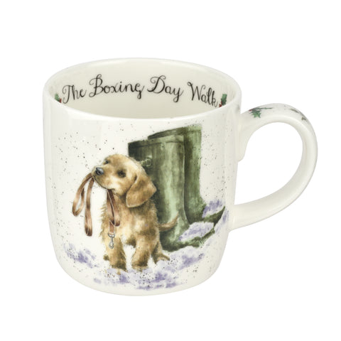 Wrendale Fine Bone China Mug - Boxing Day Dog Walk