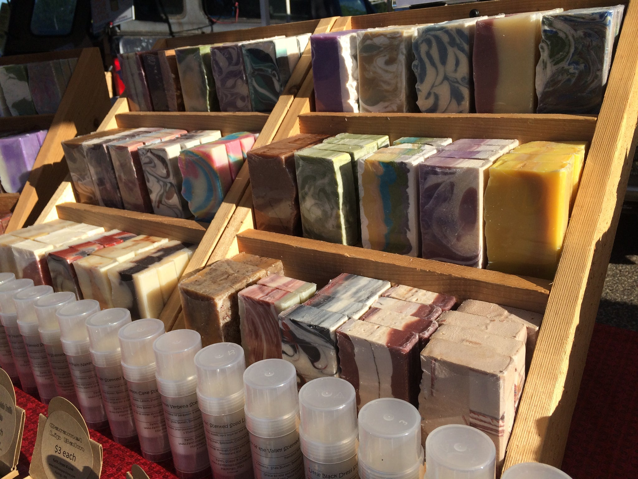 Handcrafted Soap on display Faith, Soaps & Love