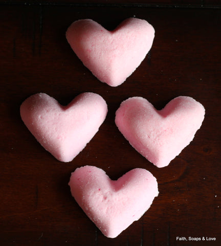 Heart Shaped Bath Bombs - Fizzy Fun For Your Bath
