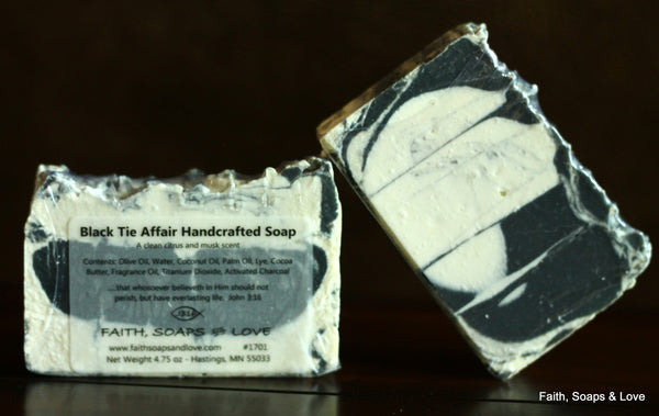 Black Tie Affair Handcrafted Soap - Citrus and Musk Scented - Handmade