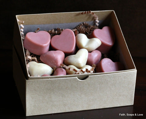Box of Hearts - Heart Shaped Unscented Soap