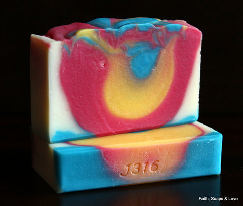 Butterfly Flower Handcrafted Artisan Soap - Ozone, Lily, Sage, Cassis, Amber, Orange, Musk