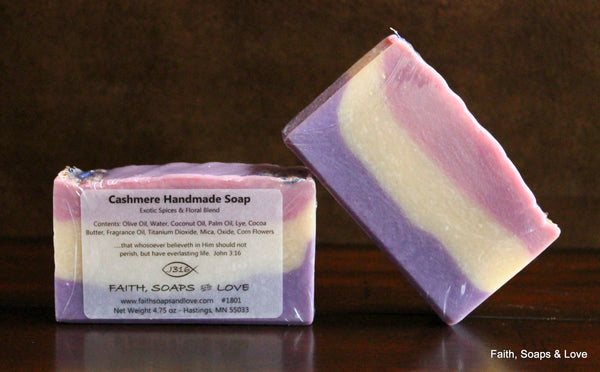 Cashmere  Handcrafted Artisan Soap - Citrus - Made in MN
