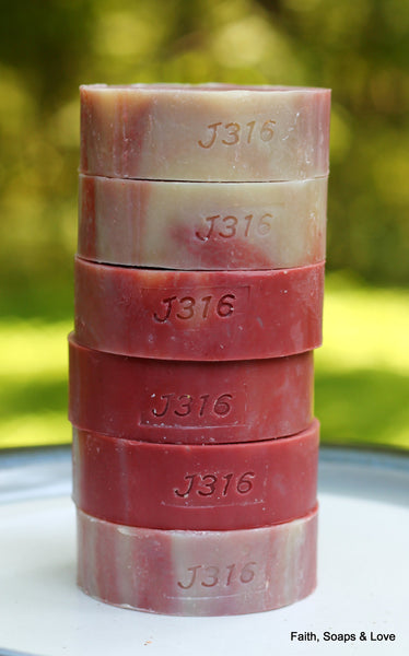 Cherry Almond Scented Handcrafted Soap - Made in Minnesota